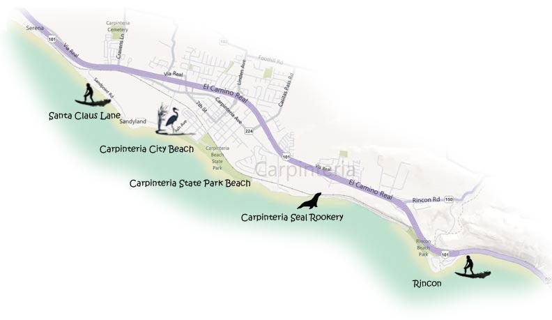 Carpinteria Beaches Surf